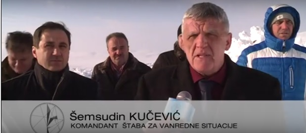 Komandant kriznog štaba, Šemsudin Kučević sa saradnicima u posjeti najugroženijim tačkama na Pešteru