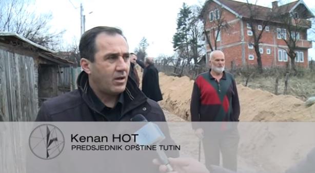 Predsjednik opštine Tutin sa svojim saradnicima obišao radove na izgradnji cjevovoda