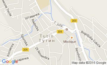 Mapa grada Tutina