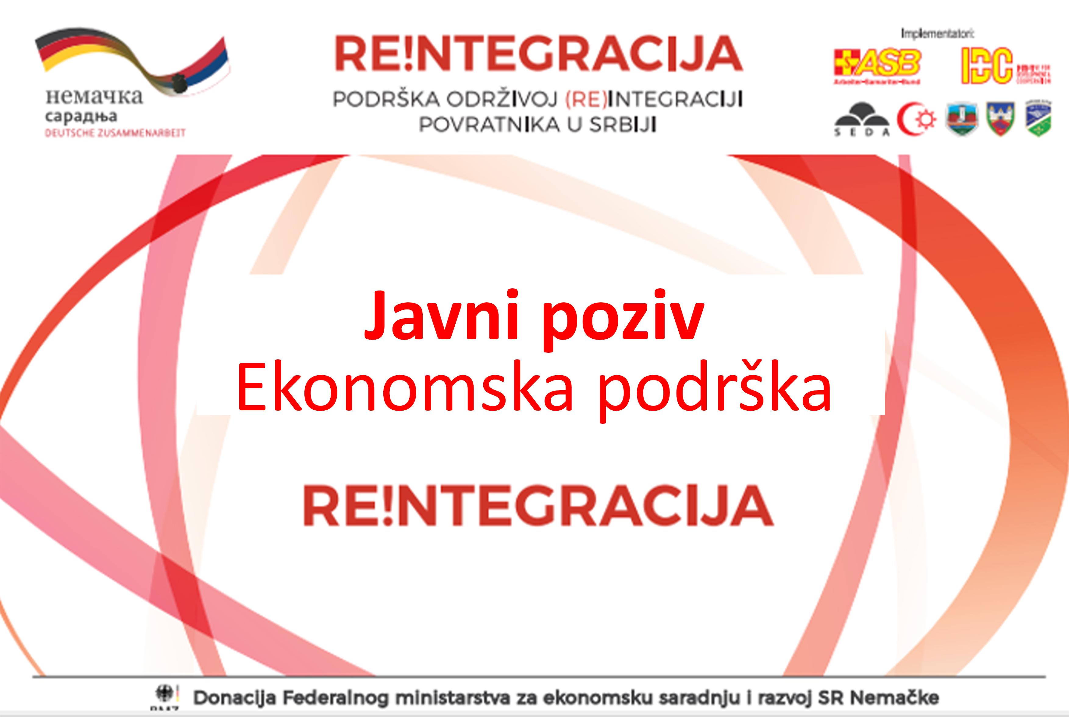 JAVNI POZIV ZA IZBOR KORISNIKA  MERE 2. – EKONOMSKA PODRŠKA